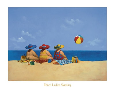 Three Ladies Sunning - Michael Paraskevas