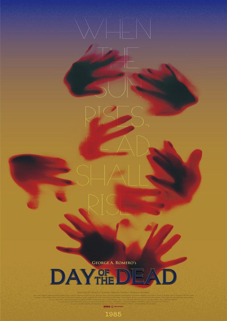 영화 , (살아있는 시체들의 낮, 죽음의 날) 포스터 - 그래픽 디자인, 타이포그래피
