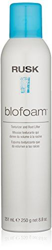 RUSK Designer Collection Blofoam Extreme Texture and Root Lifter, 8.8 fl. oz. Creates lift, volume, body, and curl separation. Achieve maximum styling control and flexibility. A unique herbal extract complex for body and pliable styling control. Microspheres of foam surround and bodify each individual strand. Creates invisible, firm, flexible support for styling and restyling perfection.