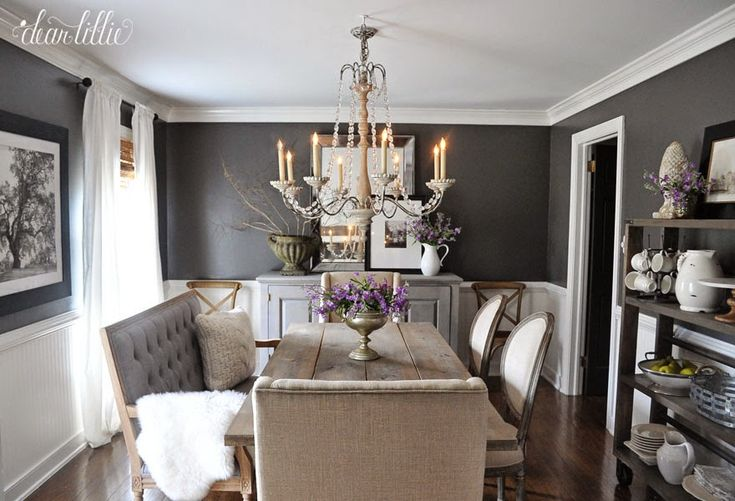 kendall charcoal dining room - Google Search