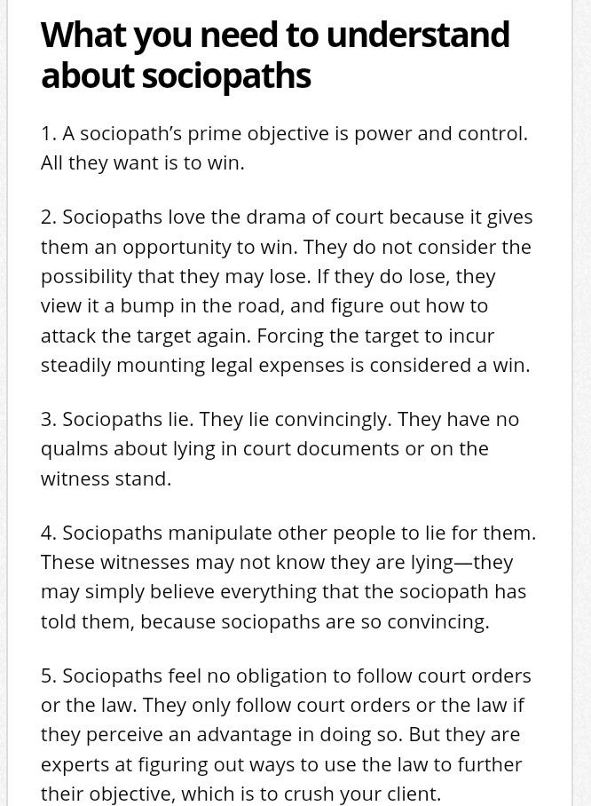 3/7 lawyers and narcissistic sociopath relationship abuse
