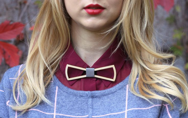 Women Wooden Bow Tie. Wood bow ties. Leather bow-tie. Wood necktie. Girls women Bow ties. Leather Bow Tie. by BuffBowTie on Etsy