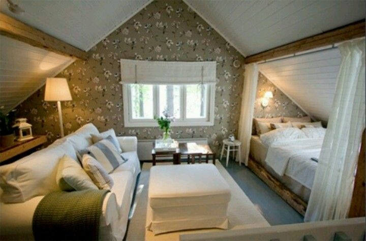 Attic nook- this would be cute if you did a loft space. Great for having a couple upstairs and letting all the cousins sleep down stairs! The couch should def be a pull out.
