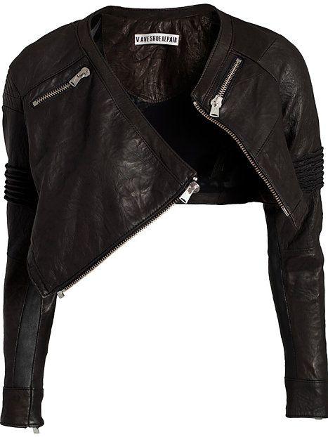 Irregular Leather Jacket - Fifth Avenue Shoe Repair - Sort - Jakker - Tøj - Kvinde - Nelly.com too cute...