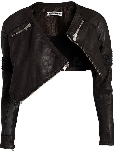 Irregular Leather Jacket - Fifth Avenue Shoe Repair - Sort - Jakker - Tøj - Kvinde - Nelly.com  too cute...