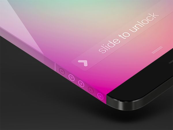 Side Indicators by Michael Shanks. iPhone 6 Infinity Concept Designs