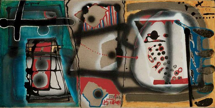 Abstract Artist Francois Arnal (French: 1924 - 2012) - Les moulières (Analogie IX), 1964