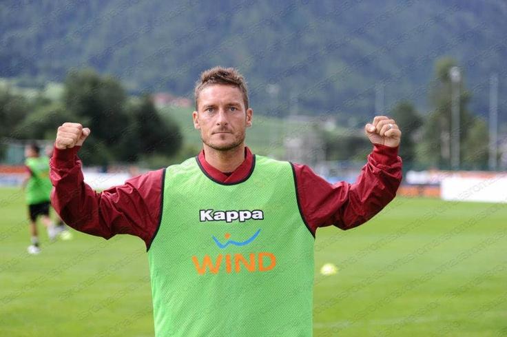 Francesco Totti coming strong