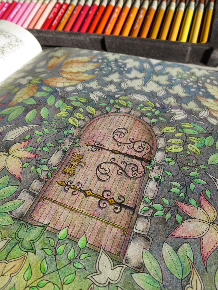 Passion For Pencils My Secret Garden Colouring Book Part