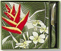 Hawaiian Tile & Cheese Knife Island Garden Dawn by IH. $27.49. Hawaiian Home Accessories add a wonderful tropical touch to your home or office!. Tile & Cheese Knife Set. The Island Garden Dawn ceramic stoneware features the vibrant colors of our island flowers complemented by an ivory background. Embossed and hand painted as well as dishwasher safe. Measures approximately 8.25 inches by 8.25 inches.
