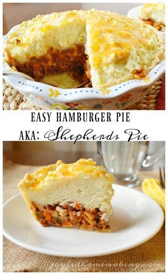 """Hamburger Pie or some may call it """"Shepherd's Pie"""" but a quick and easy one!"""