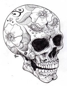 halloween skull coloring page for adults                                                                                                                                                                                 More
