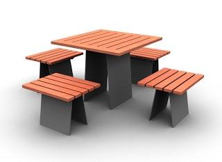 Mesa com cadeiras da Larus