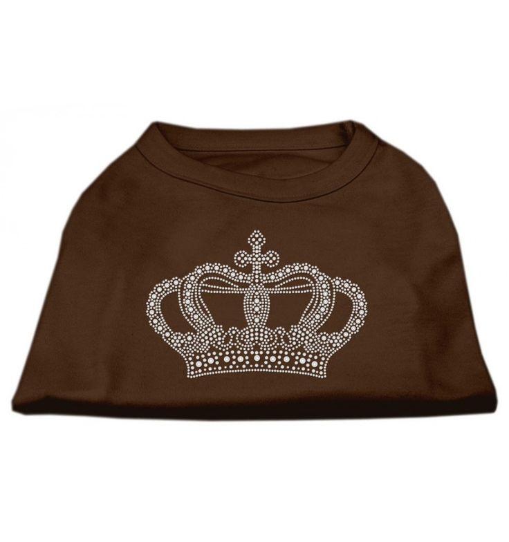 La camiseta con la corona Rhinestone es ideal para pasear y le dará a su perro un toque especial. Es marrón y tiene una gran corona rhinestone delante. Con esta camiseta su perro se sentirá cómodo además de darle un toque de originalidad