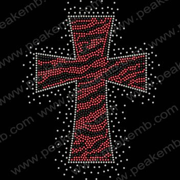 Hotsale Zebra Cross Hotfix Rhinestone Transfer Design