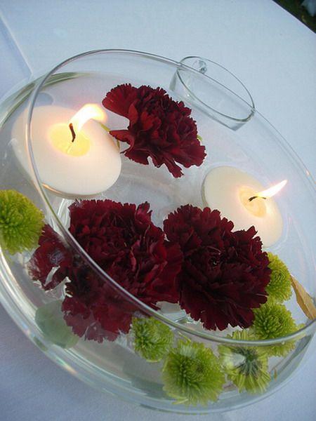 Best floating flower centerpieces ideas on pinterest