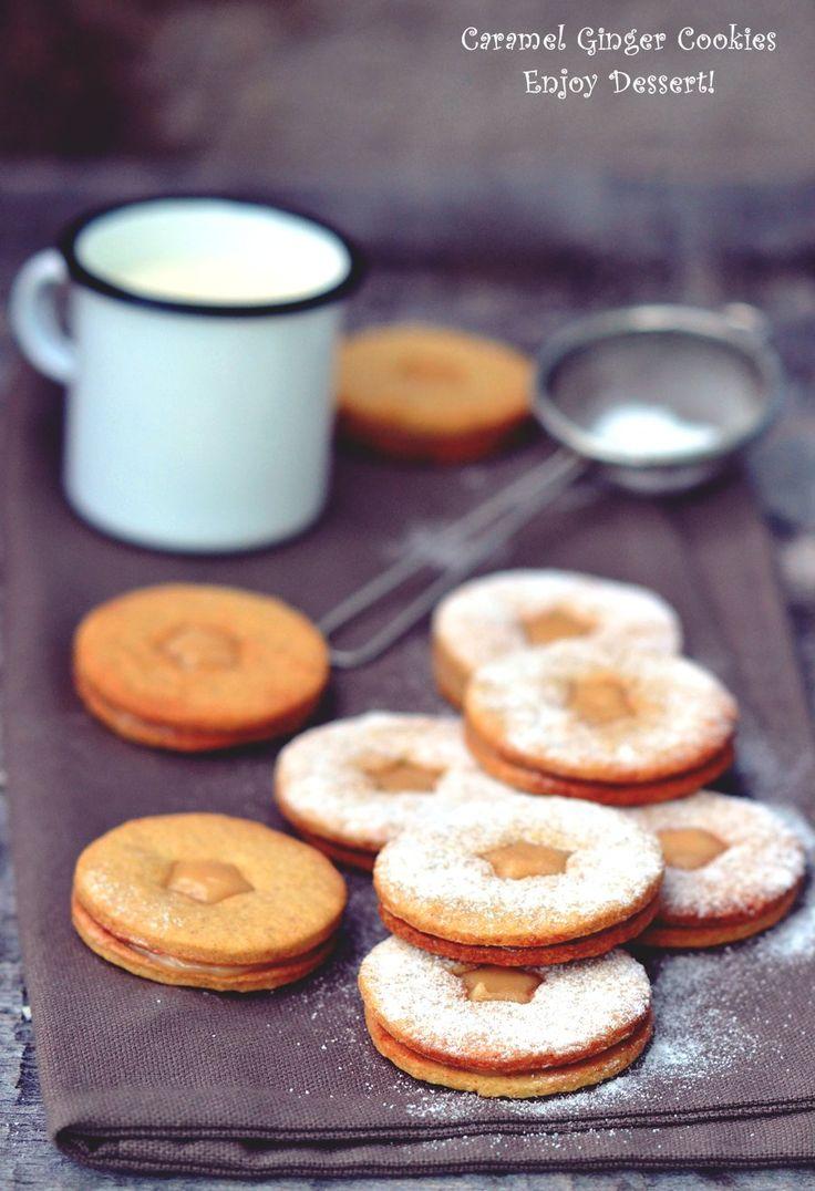 Cinnamon Ginger Cookies with Caramel Cream