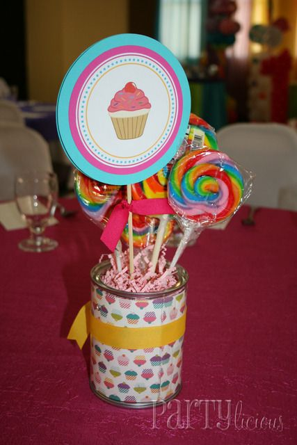 Candy & Cupcakes Birthday Party Ideas | Photo 16 of 18 | Catch My Party