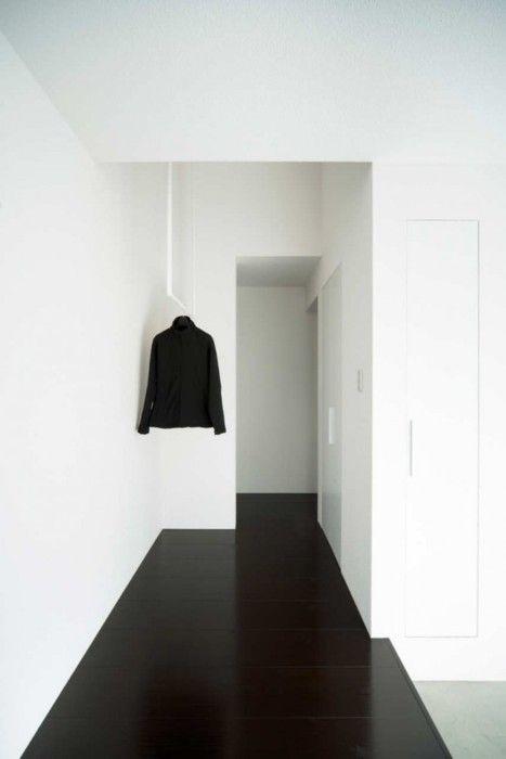 black floor