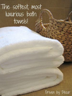 Driven By Décor: Finding the Softest, Most Luxurious Bath Towels