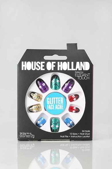 House Of Holland X Elegant Touch Face Ache Faux Nail Set