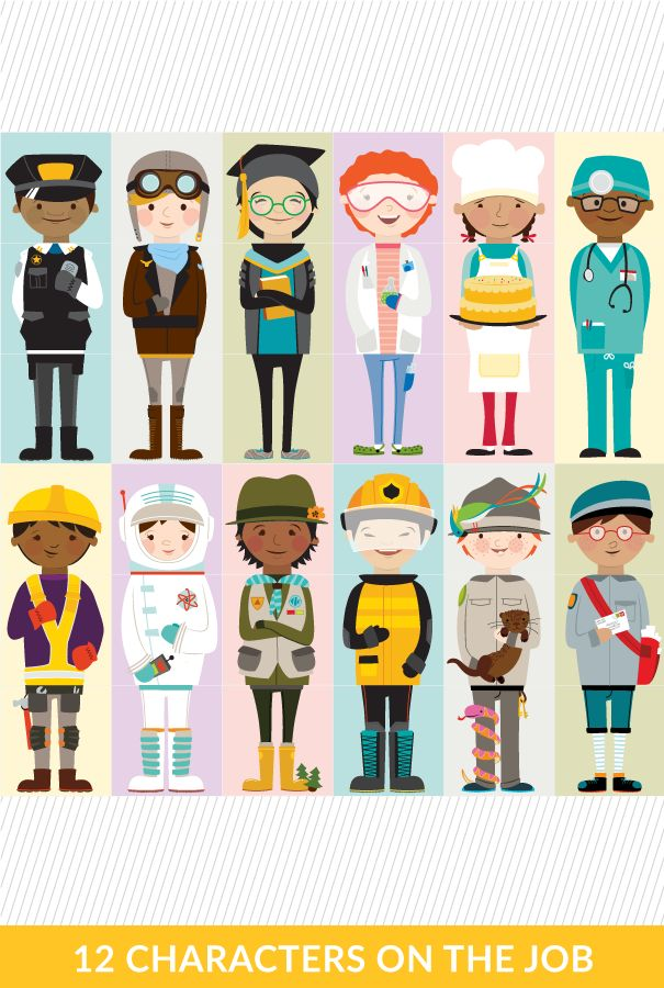 These are great for older kids when learning about careers