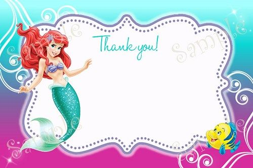 25 best little mermaid birthday ariel birthday party images on little mermaid birthday party invitation ariel invitation free thank you card filmwisefo
