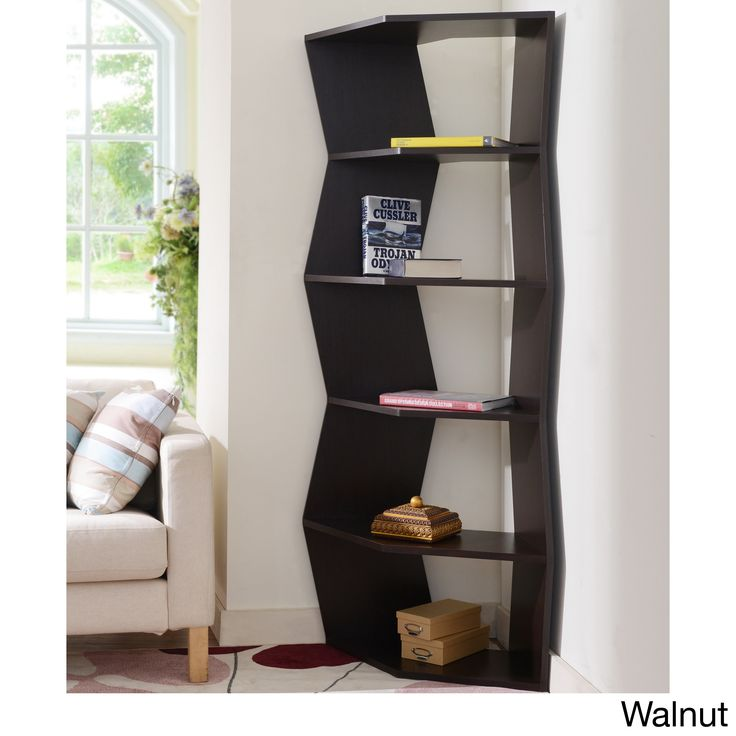 Furniture Of America New Journey Contemporary Corner Display Bookcase Unit    Overstock™ Shopping   Great Deals On Furniture Of America  Media/Bookshelves