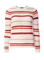 Womens Multi Colour Striped Jumper- Fl Multi
