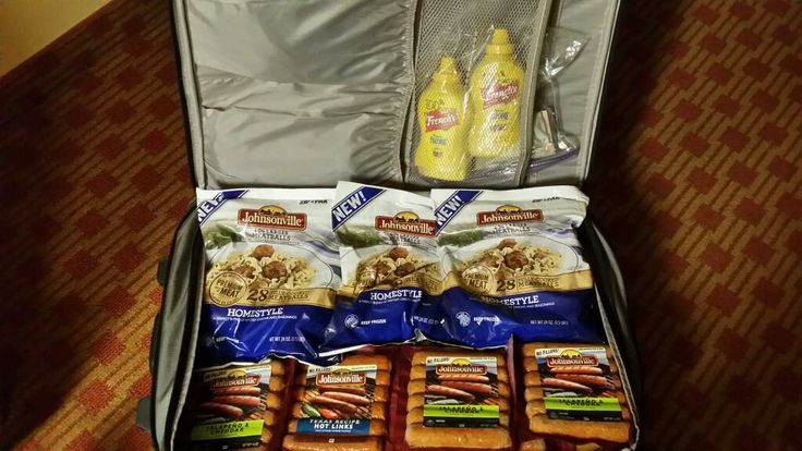 """A """"suitcase of sausage"""", courtesy of former #BigTasteGrill Grill Master Ry"""