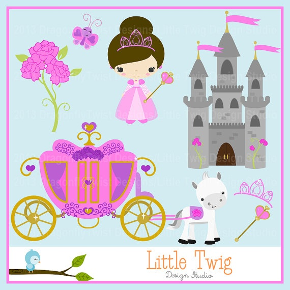 Princess Digital Clipart clip art collection by Dragonflytwist, $5.00