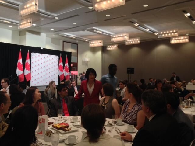 Full house for @Olivia Chow Canadian Club Speech #TOpoli pic.twitter.com/PT9c2OhBau