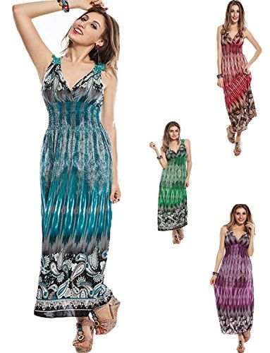 """Yummy Bee Women's Summer Floral Print Long Maxi Dress   Yummy Bee Women's Summer Floral Print Long Maxi Dress   Yummy Bee - Ultra Figure Flattering Long Maxi Dress      Seductive Top Quality Dress Perfect for Holidays or Smart Casual Wear Features:   - Eye-catching Large Paisley Pattern to Bottom and Bustline with Floral Lace Embroidered Back Panel - See Back Image   - Extremely Comfortable Stretch Fit with Elasticated Waist Shirring   - Length Measures 54"""" 137cm from Shoulder to Flo.."""