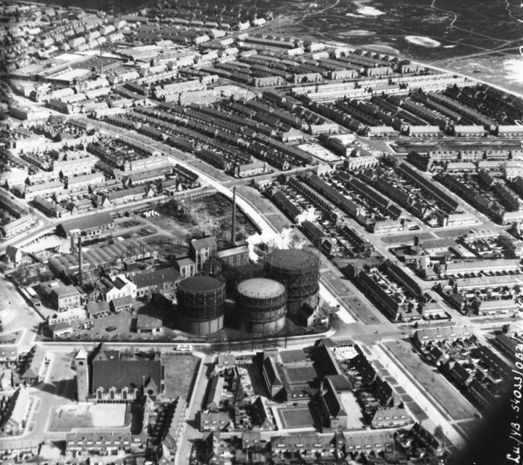 Gasfabriek Hilversum (Luchtfoto)