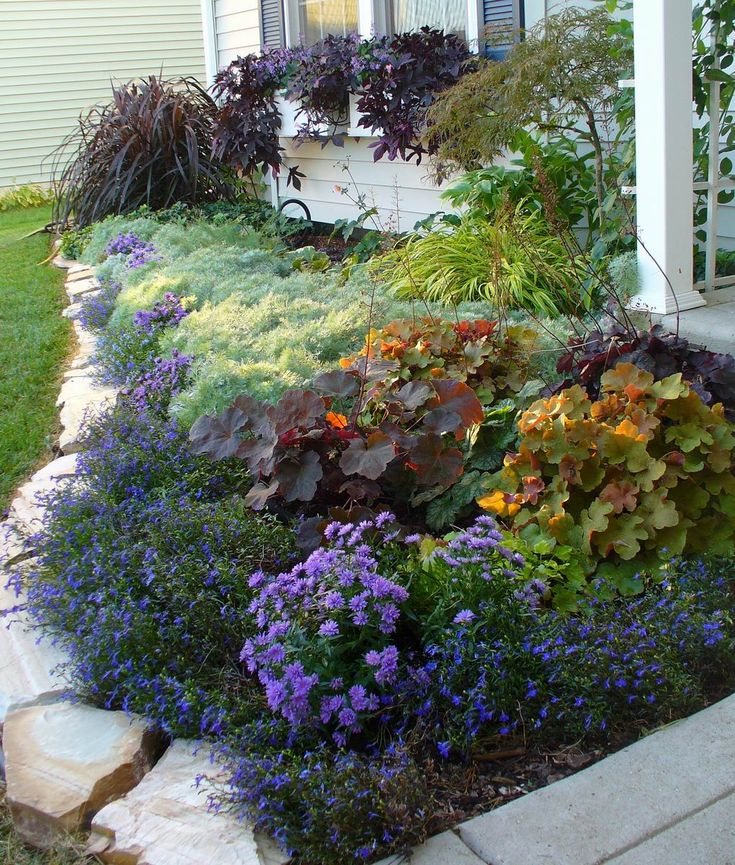 1089 best images about id es pour la maison on pinterest for Flower ideas for front yard