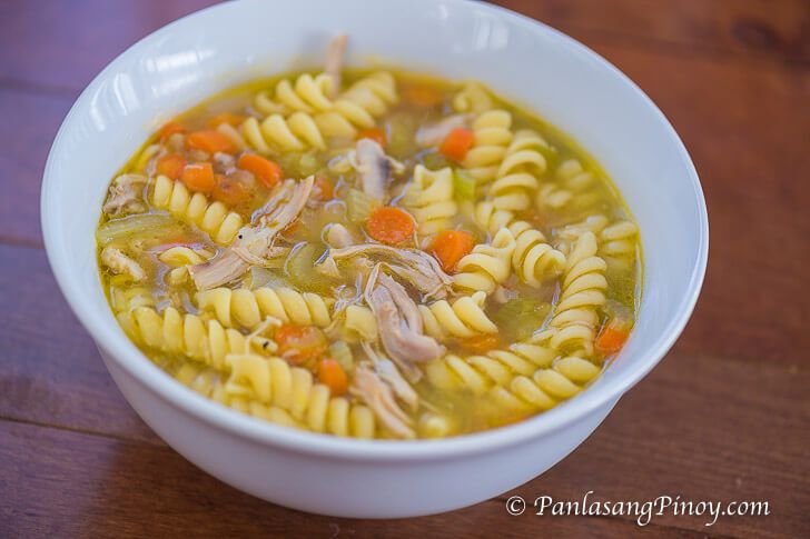 Simple Chicken Noodle Soup - It is a good idea to cook Simple Chicken Noodle Soup when you feel chilly. It can satisfy your hunger while making you feel cozy.