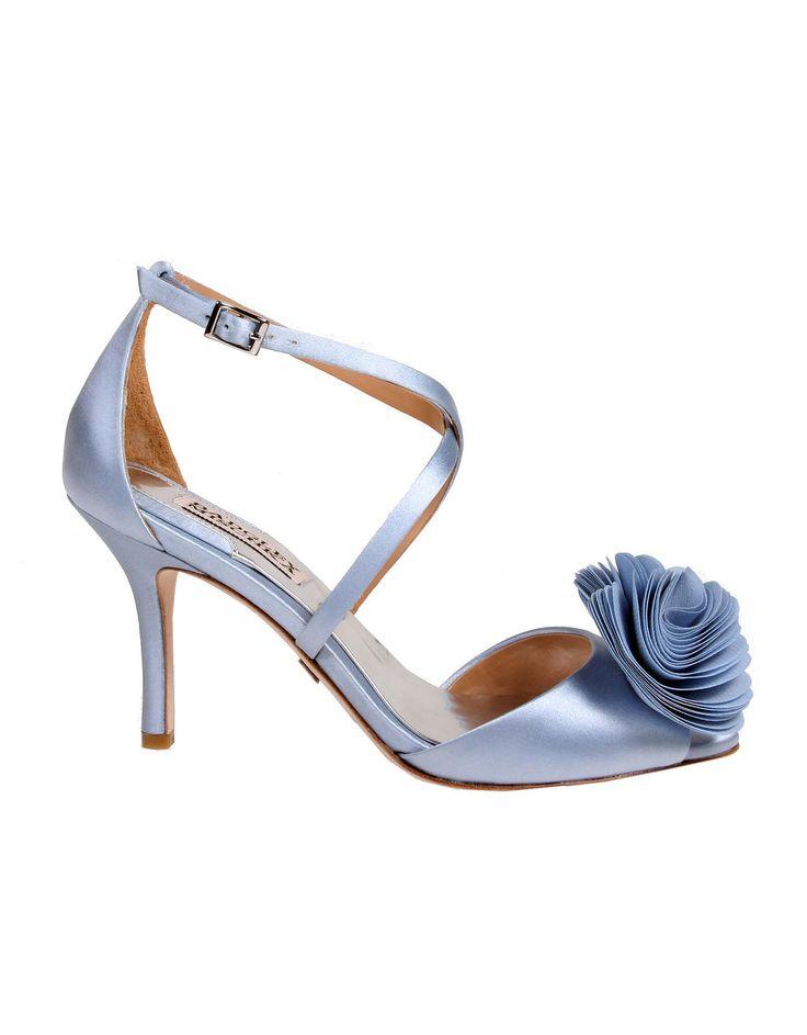 Wedding day inspiration from Kleinfeld Canada: Badgley Mischka shoes, Gaby Light Blue