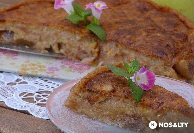 Almás-banános cukor és tojásmentes sütemény
