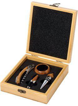 Starline - 18541 - WN41 - 4 Pc Bamboo Wine Gift Set