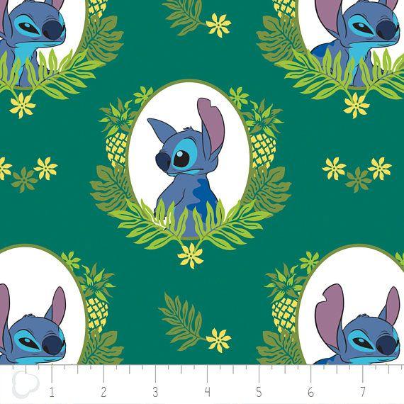 Disney Fabric  Camelot Disney Stitch Tropical Frame in