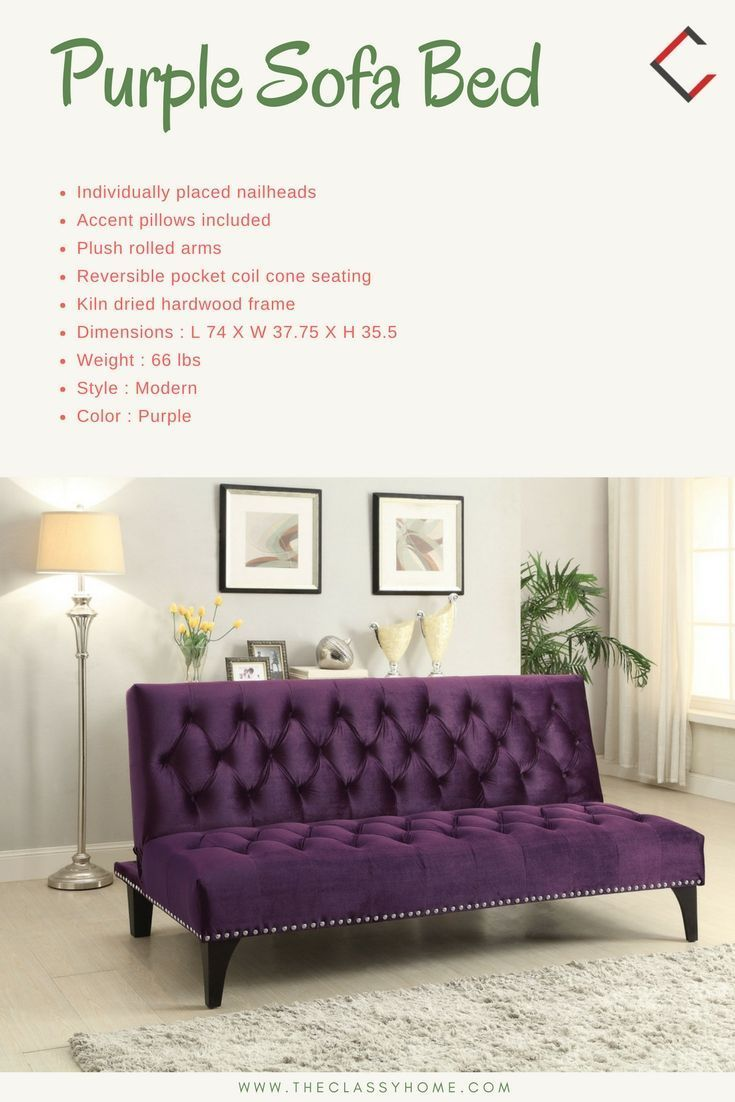 Coaster Furniture Purple Sofa Bed Sofabed Purple Sofa