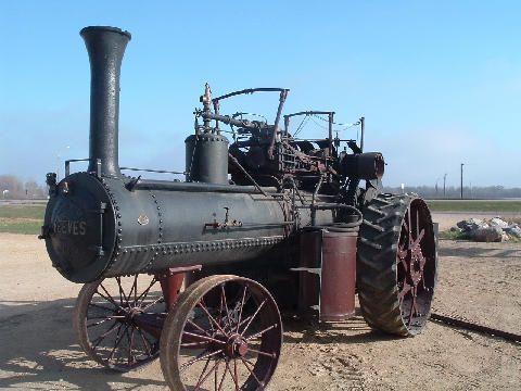 Steam tractor.