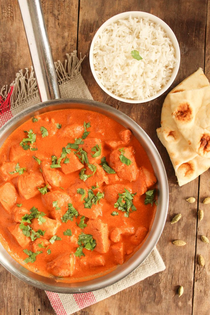 This Easy Butter Chicken recipe is very fragrant and quick enough for a weeknight. Be sure to have lots of nann bread handy to scoop all that great sauce.