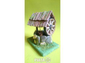 Obiecte de arta, Vanzari, cumparari, Diorama Macheta Fantana cu ciutura Suvenir Romania Artizanat Rustic Handmade, imaginea 1 din 4