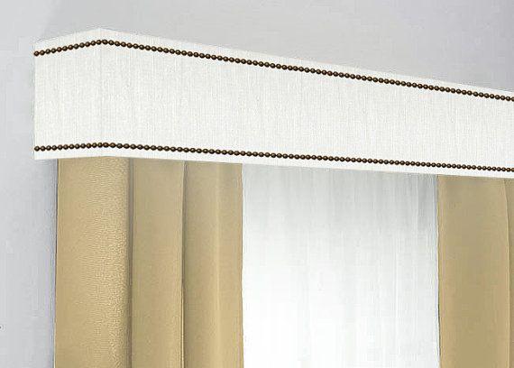 Custom Cornice Board Pelmet Box Window Treatment In White