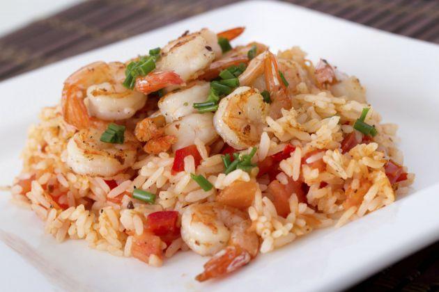 Receta de arroz con camarones                    VIERNES