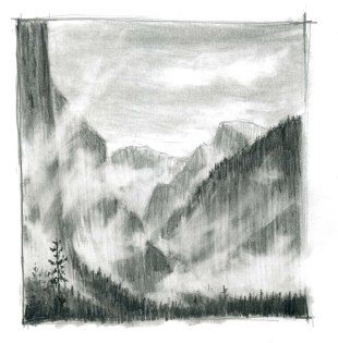 Drawing Rising Mist with Graphite Pencil