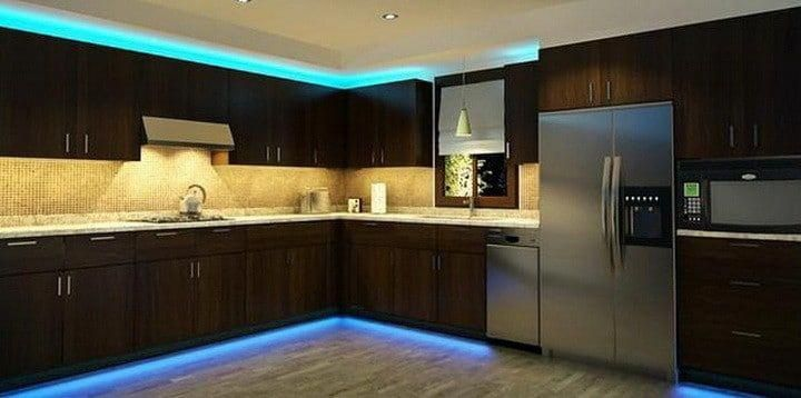 Kitchen Cabinets With Led Strip Lighting Interiorledlights