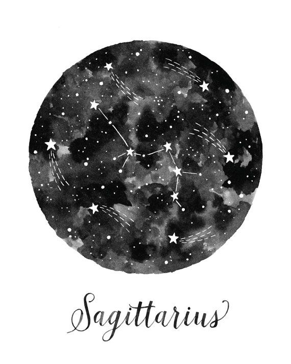 Sagittarius Constellation Illustration  Vertical от fercute