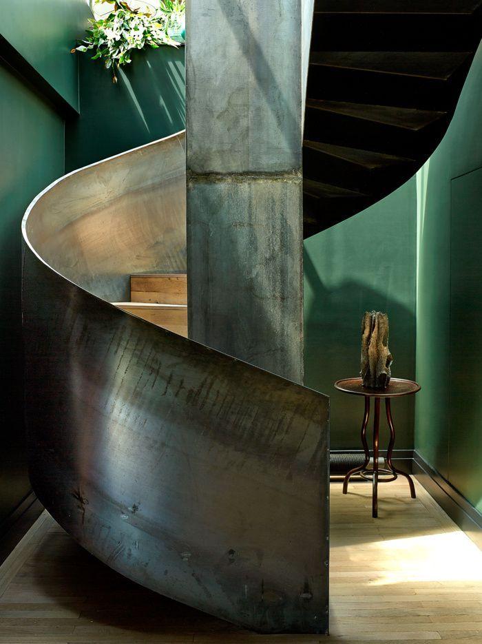 Industrial, spiral staircase, Paris